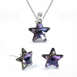 Set hviezdy 10 mm – farba Crystal VL – napichovačky