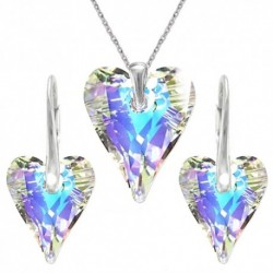 Set srdce swarovski CRAZY – CRYSTAL AB For You Set-srdcrazy-003