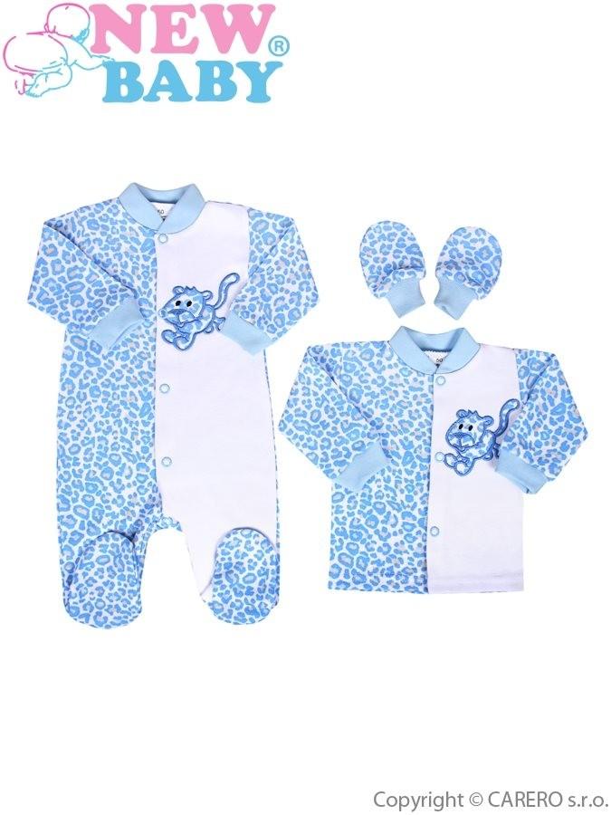 3116f025cc53 9-dielna súprava do pôrodnice New Baby Leopardík modrá modrá ...