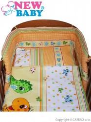 <p>3-dielne posteľnú obliečky New Baby 90/120 cm oranžové s dinom</p>