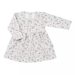 Dojčenské šatôčky s dlhým rukávom New Baby For Girls hviezdičky sivá