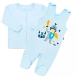 2-dielna dojčenská bavlnená súpravička New Baby Knight modrá