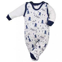 2-dielna dojčenská súprava Koala Tajga bielo-modrá