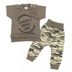 2-dielna dojčenská súprava New Baby Army girl zelená