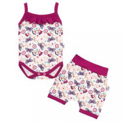 2-dielna letná bavlnená súprava New Baby Little Girl ružová