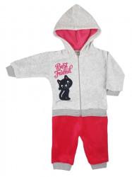 2-dielná semišková dojčenská súprava Koala Best Friend dievča tmavo ružová