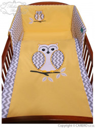 2-dielne posteľné obliečky Belisima Múdra Sovička 100/135 žlté