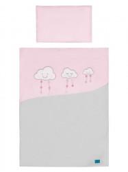 2-dielne posteľné obliečky Belisima Obláčiky 100/135 ružové