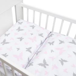 2-dielne posteľné obliečky New Baby 100/135 cm biele motýle #1