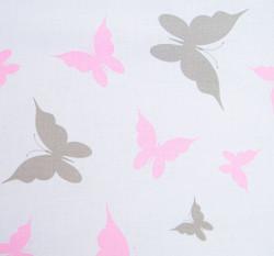 2-dielne posteľné obliečky New Baby 100/135 cm biele motýle #2