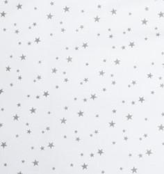 2-dielne posteľné obliečky New Baby 100/135 cm biele sivé hviezdičky #2