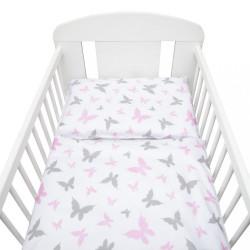 2-dielne posteľné obliečky New Baby 90/120 cm biele motýle
