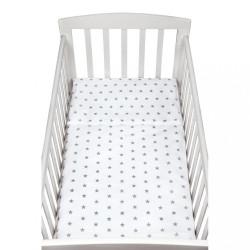2-dielne posteľné obliečky New Baby 90/120 cm sivé hviezdičky biela