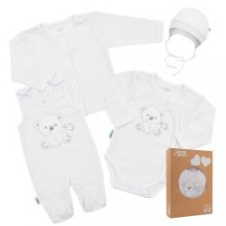 Dojčenská súprava do pôrodnice New Baby For Sweet Bear biela biela