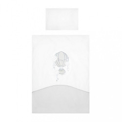 3-dielne posteľné obliečky Belisima Ballons 90/120 sivé
