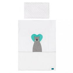 3-dielne posteľné obliečky Belisima Bear in love 90/120  tyrkysové