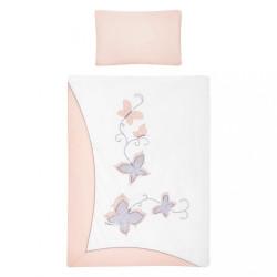3-dielne posteľné obliečky Belisima Butterfly 100/135 ružové