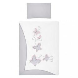 3-dielne posteľné obliečky Belisima Butterfly 90/120 sivé