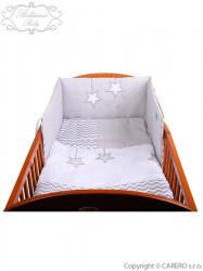 3-dielne posteľné obliečky Belisima Hviezdička 100x135 šedé sivá