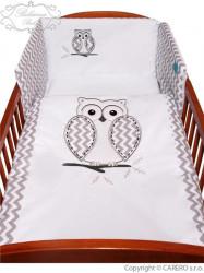 3-dielne posteľné obliečky Belisima Múdra Sovička 90/120 biele