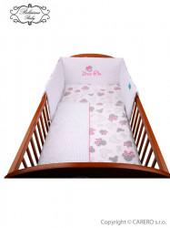 3-dielne posteľné obliečky Belisima Myška s mašličkou 100/135 ružové