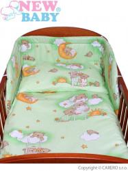 3-dielne posteľné obliečky New Baby 100/135 cm zelené s medvedíkom