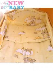 3-dielne posteľné obliečky New Baby 90/120 cm bežové s medvedíkom