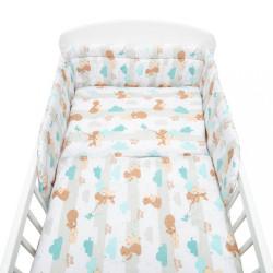 3-dielne posteľné obliečky New Baby 90/120 cm mama bear podľa obrázku