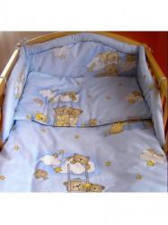 3-dielne posteľné obliečky New Baby 90/120 cm modré s medvedíkom