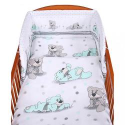 3-dielne posteľné obliečky New Baby 90/120 cm sivý medvedík