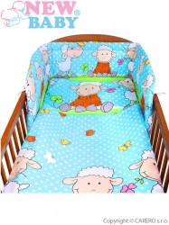 3-dielne posteľné obliečky New Baby 90/120 cm tyrkysové s ovečkou