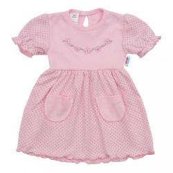 Dojčenské šatôčky s krátkym rukávom New Baby Summer dress ružová