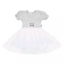Dojčenské šatôčky s tylovou sukienkou New Baby Wonderful sivé sivá