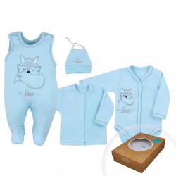4-dielna dojčenská súprava Koala Fox Love modrá