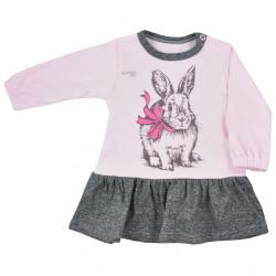 Dojčenské šatôčky Koala Anitka ružovo-sivé ružová