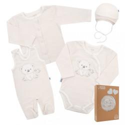 Dojčenská súprava do pôrodnice New Baby For Sweet Bear béžová béžová