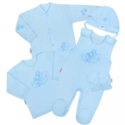 5-dielna súpravička New Baby Veveričky modrá