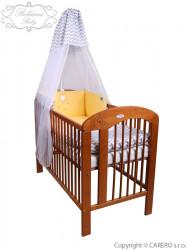 5-dielne posteľné obliečky Belisima Hviezdička 90/120 žlté