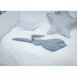 5-dielne posteľné obliečky Belisima Králiček 90/120 bielo-sivé #2