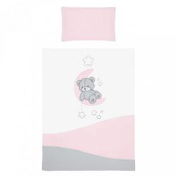 5-dielne posteľné obliečky Belisima Teddy Bear 100/135 ružové