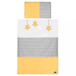 6-dielne posteľné obliečky Belisima Hviezdička 90/120 žlté
