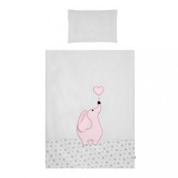 6-dielne posteľné obliečky Belisima Lovely Puppy 100/135 ružové