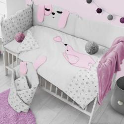 6-dielne posteľné obliečky Belisima Lovely Puppy 100/135 ružové #2