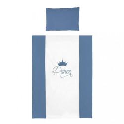 6-dielne posteľné obliečky Belisima Royal Baby 90/120 modré