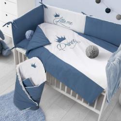6-dielne posteľné obliečky Belisima Royal Baby 90/120 modré #1