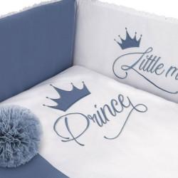 6-dielne posteľné obliečky Belisima Royal Baby 90/120 modré #2