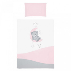 6-dielne posteľné obliečky Belisima Teddy Bear 90/120 ružové