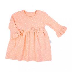 Dojčenské šatôčky-body s dlhým rukávom Nicol Rainbow ružové ružová
