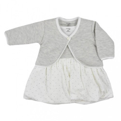 Dojčenské bavlnené šatôčky s bolerkom Koala Dots smotanové smotanová