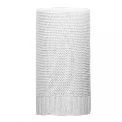 Bambusová pletená deka NEW BABY 100x80 cm biela